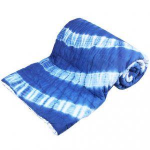 Batik Indigo Print Cotton Reversible Quilt