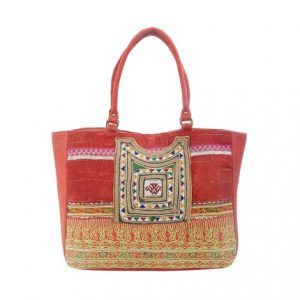 Cotton Shoulder Bag For Women (Multicolor)
