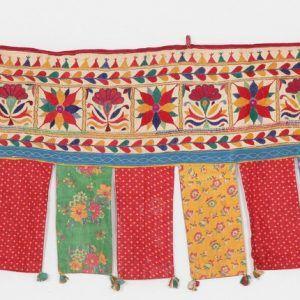 Cotton Vintage Embroidered Patchwork Door Valances Toran Window Valances