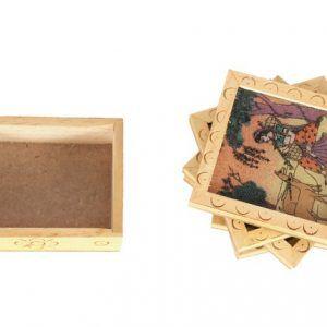 Gemstone Painting Life Of A Village Tea Coaster Coffee Coaster Set