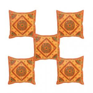 Hand Work With Mirrior Cushion Cover