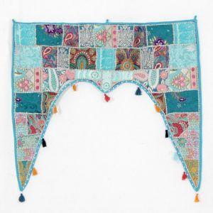 Hippie Cotton Ethnic Wall Hanging Vintage Embroidered Patchwork Door Valances Toran Window Valances