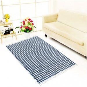 Indian Handmade Rug for Living Room,Bedroom,and Dining Room, 35 Feet, Blue Jth-Jud-05