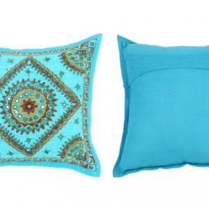 5 PCS Beautiful Hand Work Mirror Turquoise cushion