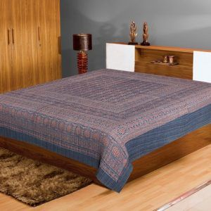 Jaipur Textile Hub Handmade Vintage Cotton Kantha Quilt Gudri Bed Cover SGG-50
