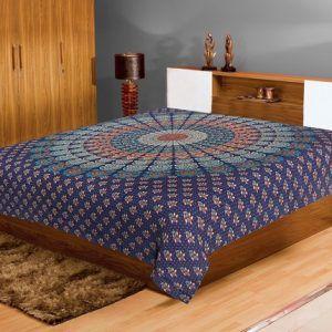 Mandala Indian Traditional Print bad sheet Bohemian Tapestries 85100 Inch