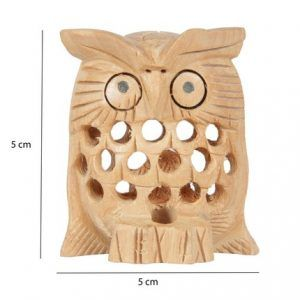 Owl Sculpture Wood Woodcarving Home Decorative