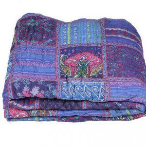 Patchwork King Size 100% Cotton Reversible Quilt