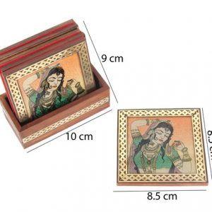Set of Gemstone Painting Tea Coaster Coffee Coaster