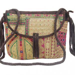 Silk Shoulder Bag For Women (Multicolor)