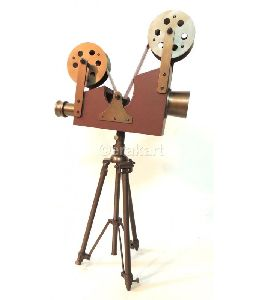 Antique Brass Film Projector Accent Camera