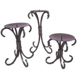 Modern Wrought Iron Candle Holder