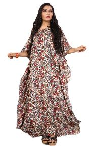 Women Rayon Soft Cotton Digital Printed Multi Color Kaftan Kurta