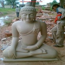 Handcrafted Sand Stone Buddha Statues