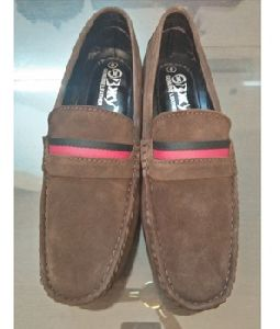 Brown Color Suede Leather Daily Wear Shoes