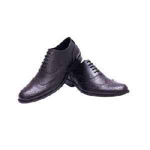 Formal Italian-style Handmade Leather Brogue Shoes For Men