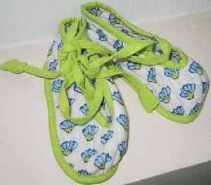 Block-printed Baby Shoes