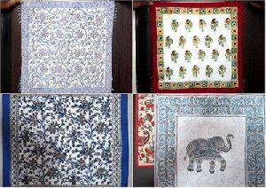 Block-printed Cushion-covers