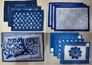 Block-printed Table-mats