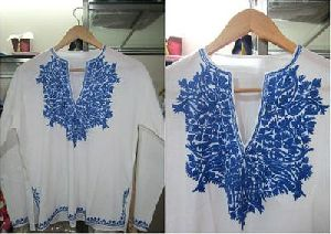 colored embroidery tops