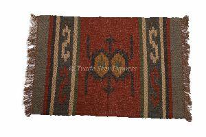 Indian Handmade Jute Kilim Rag Rug
