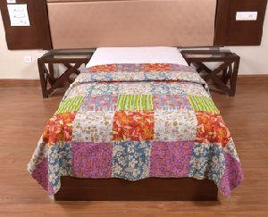 Kantha Throw Blanket Vintage Art Cotton Bedspread