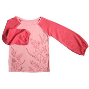 Girls Rose Pink Full Sleeve Top