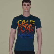 O Neck Graphics Printed Enzyme Washed Tshirt