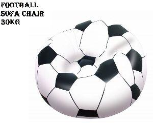 Football Soccer Bean Less Bed Inflatable Sofa Cum Chai Chair