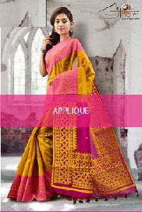 Sae002 Applique Work Saree