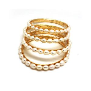 Designer Pearl Bangles