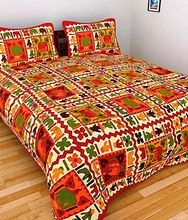 Home Furnishing Embroidered Jaipuri Cotton Bed Cover