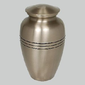 Brass Cerimation Urn For Adult Pewter Finish