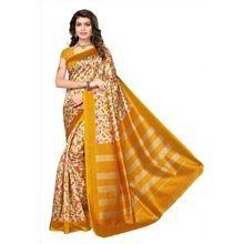Mysore Silk Yellow Saree