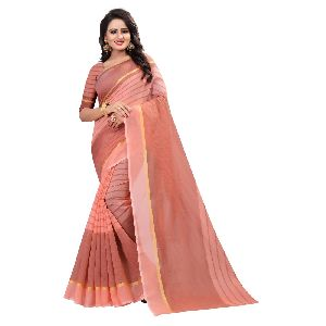 Top Dyed Cotton Saree Top Dyed Saree