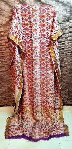 Party Wear Digital Printed Linen Saree