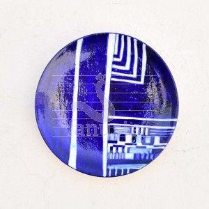 Cobalt Blue Decorative Plate Wall Art