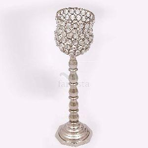 Crystal Aluminium Candle Lamp