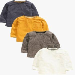 Long Sleeve Plain T-shirt Four Pack