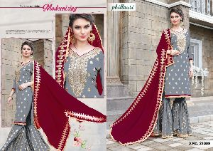 21009 Phillauri Vol - 8 Fox Georgette Dress