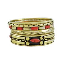 Premium Quality Brass Fashion Multi Pieces Set Bangles