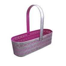 Oval Shape Decorative Iron Basket For Gift