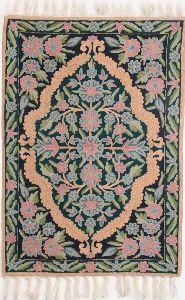 Wool Silk Chain Stitch Rugs