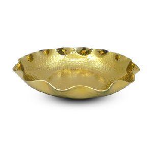 Designer Gold Finished Aluminium Round Bowl