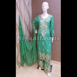 Chanderi Plazo Suits