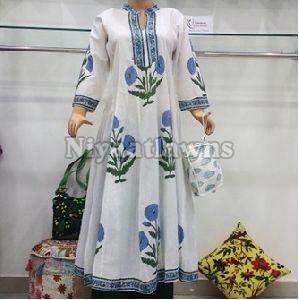 Cotton Printed Anarkali Kurties