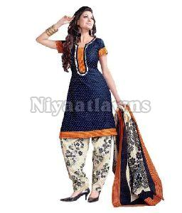 Indian Semi Stitched Ladies Suit