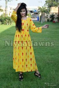 Jaipuri Bandhej Hand Wash Sleeve Cotton Kurti