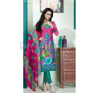 Ladies Floral Printed Unstitched Suit