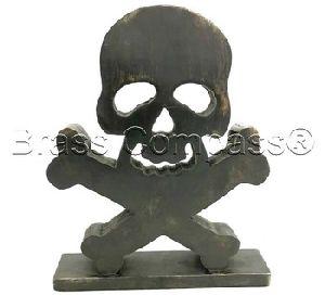 Hot Sell Natural Skeleton Skull Bones Halloween Craft Supplies Wood Shapes Wood